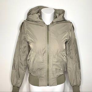 NWOT Aritzia light green/grey bomber jacket